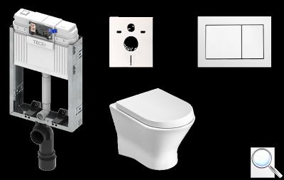 Závěsný komplet WC