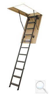 LMS Smart zateplené skládací schody s kovovým žebříkem