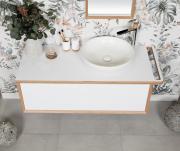 Koupelnová skříňka pod umyvadlo s držákem ručníku Naturel Oxo Multi 118x39x50 cm bílá mat OXOMULTI110KDLP (obr. 5)