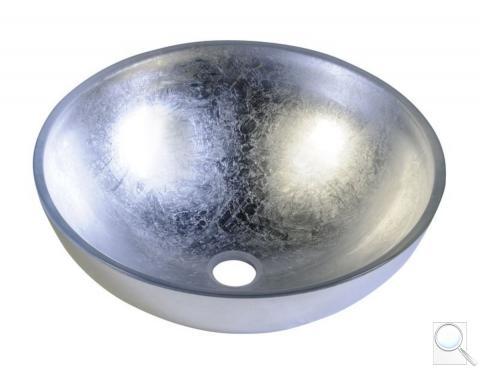 Umyvadlo na desku Sapho Murano 40x40 cm stříbrná bez otvoru pro baterii, bez přepadu AL5318-52 obr. 1