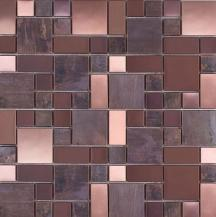 Měděná mozaika Premium Mosaic Stone metalická hnědá