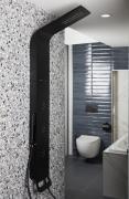 Sprchový panel SIKO na stěnu černá/chrom ALUSHOWERC (obr. 9)