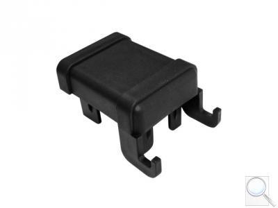 ČEPIČKA PVC PRO SLOUPEK PILODEL® 60 × 40 mm s háčky na čele, černá