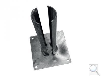 Platle k montáži sloupku na betonový základ pro sloupky IDEAL®, průměr 60/76 mm, Zn