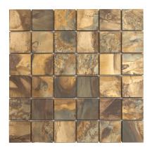 Měděná mozaika Premium Mosaic metalická hnědá