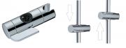 Sprchový systém SAT na stěnu s termostatickou baterií černá/chrom SATSSTPBCHC (Ovládání jezdce nadržáku ruční sprchy - pouhým zatlačením napáčku se posunuje nahoru či dolů)