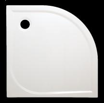 Sprchová vanička čtvrtkruhová Siko Flat akrylátová