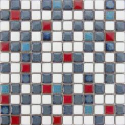 Mozaika modrá | rozměr:  30,5 x 30,5 cm | kód: MOSS23MIX1
