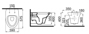 Závěsné WC RENO (Technický nákres)