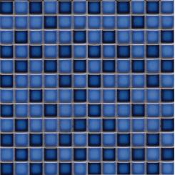 Mozaika modrá | rozměr:  30 x 30 cm | kód: MOS23MIXBL