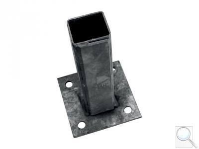 Platle k montáži sloupku na betonový základ pro sloupky profilu 50 × 50/70 × 70 mm, Zn