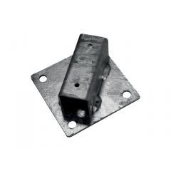 Platle k montáži sloupku na betonový základ pro sloupky IDEAL®, průměr 38/48 mm, Zn