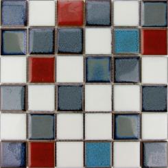 Mozaika modrá | rozměr:  30,5 x 30,5 cm | kód: MOS48MIX1