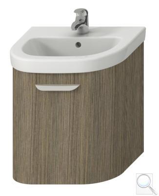 Koupelnová skříňka pod umyvadlo Jika Deep 53x44x49,8 cm Hnědá (Kód:5413.2.434.341.1)