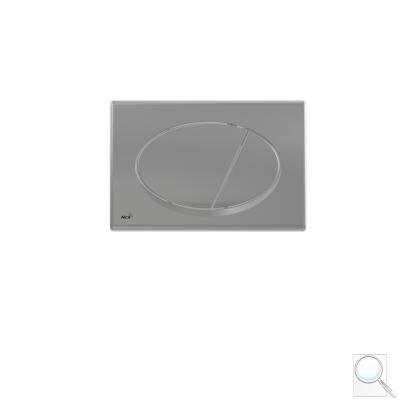 Ovládací tlačítko Alcaplast plast chrom mat M72 obr. 1