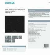 Vestavná indukční varná deska SIEMENS (obr. 2)