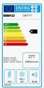 Vestavná chladnička NOFROST HETTICH - ko (Energetický štítek)