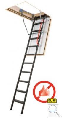 LMF 45 protipožární skládací schody s kovovým žebříkem
