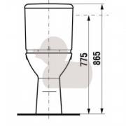 Stojící WC mísa kombi (Technický nákres (1))
