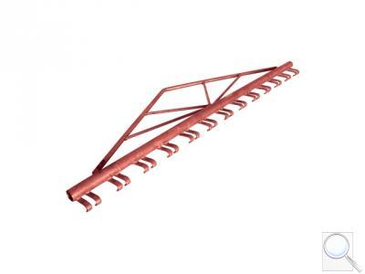 Napínací hřeben pro vypnutí svařovaných sítí pro výšky 1200 mm, 1500 mm (v základové barvě)