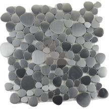 Mozaika nerezové oblázky set