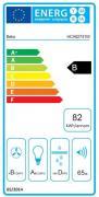 Digestoř Beko HCA 62741W (energetický štítek)