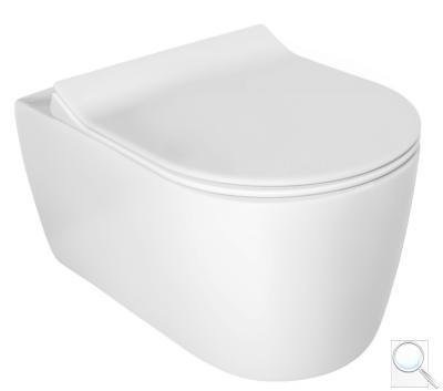 WC závěsné Glacera Alfa mat zadní odpad AL010MW obr. 1