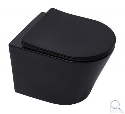 WC s prkénkem softclose závěsné SAT Infinitio černá mat zadní odpad SATINF010RREXPBKM obr. 1