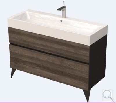 Koupelnová skříňka podumyvadlo Naturel Luxe černá břidlice/dřevo lesk