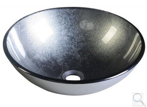 Umyvadlo na desku Sapho Skin 42x42 cm šedá bez otvoru pro baterii, bez přepadu 2501-16 obr. 1