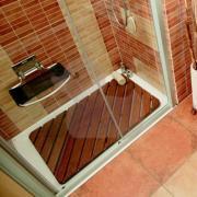 Sprchová rohož Aris dřevo OBDÉLNÍK (Sprchová kout s dřevěnou rohoží ARIS)