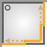 Sprchový kout TEX čtverec (SIKOTEXQ100CRT-027-tex)