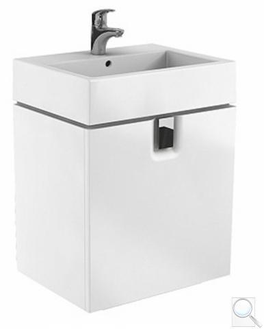 Koupelnová skříňka pod umyvadlo Kolo Twins 50x46x57 cm bílá lesk obr. 1