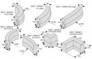 Mono II obloukové, rohové (Technický nákres)