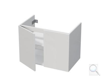 Koupelnová skříňka pod umyvadlo Naturel Ratio 75,5x56x37 cm bílá lesk PN802D56PU.9016G obr. 1