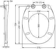 WC sedátko EASY Softclose (Technický nákres)