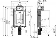 Nádržka pro zazdění k WC Alcaplast AM115/1000 (obr. 2)
