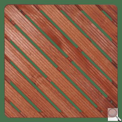 Sprchová rohož Aris dřevo ČTVEREC