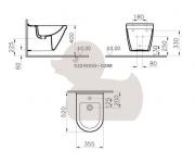 Bidet S50 (technický nákres (vnitřní přívod))