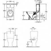 Kombinované WC kombi O.Novo (Technický nákres)