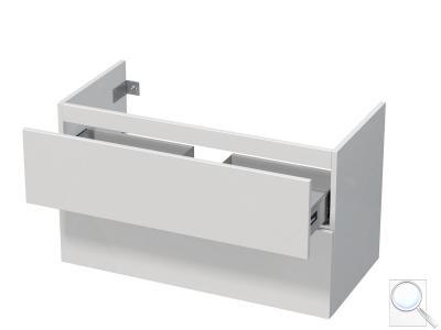 Koupelnová skříňka pod umyvadlo Naturel Ratio 95,5x56x37 cm bílá lesk PN1002Z56PU.9016G obr. 1