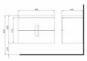 Koupelnová skříňka s umyvadlem Kolo Twins (SIKONKOTW802CM-ImageGallery-0)