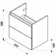 Koupelnová skříňka pod umyvadlo Jika Mio-N 61x44,5x59 cm (Nákres)