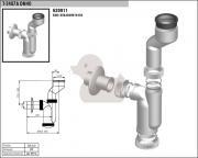 Pisoárový sifon (Technický nákres)