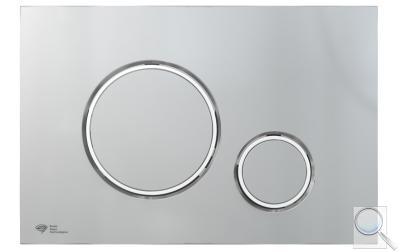 Ovládací tlačítko SAT plast chrom mat SATAT71 obr. 1