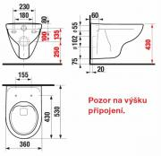 WC závěsné Lyra plus (Technický nákres)