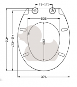 WC sedátko Softclose (Technický nákres)