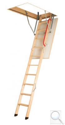 LWK Komfort zateplené skládací schody s dřevěným žebříkem