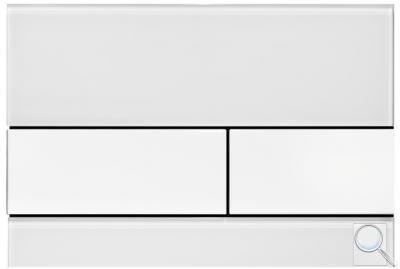 Ovládací tlačítko TECEsquare sklo Sklo bílé, bílá tlačítka