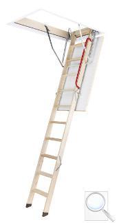 LWZ Plus zateplené skládací schody s dřevěným žebříkem
